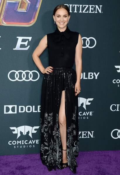 """Natalie Portman sublime à l'avant-première du film """"Avengers : Endgame"""" à Los Angeles, le 22 avril 2019."""