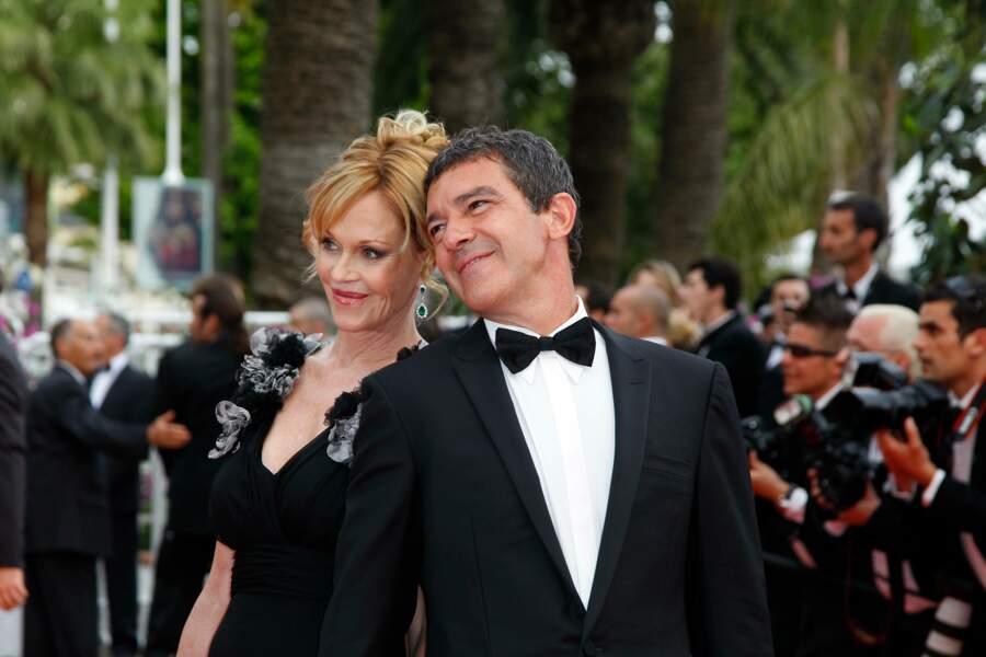 Melanie Griffith et Antonio Banderas sur le tapis rouge du Festival de Cannes en 2011