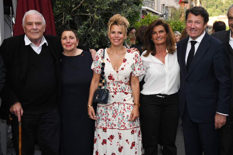 """Philippe Solers, Christian Estrosi et Laura Tenoudji lors de 2ème édition du """"littéraire de la Petite Maison"""""""