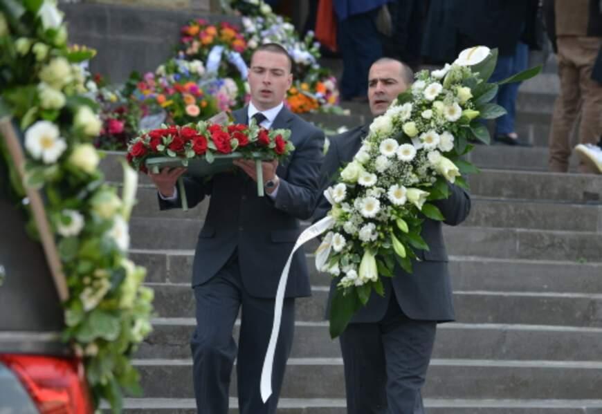 Obsèques de la chanteuse belge Maurane à l'église Notre Dame des Grâces de Woluwe-Saint-Pierre