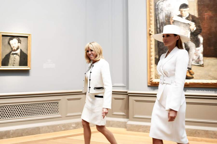 Brigitte Macron et Melania Trump visitent ensemble la National Gallery of Art de Washington