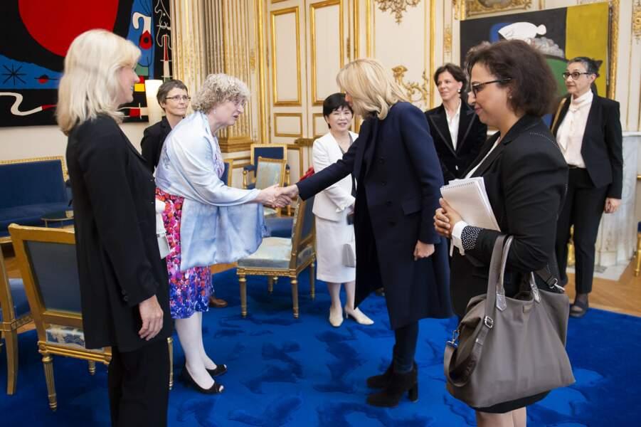 Brigitte Macron souhaitait connaître les difficultés qu'avait pu rencontrer ces 5 femmes au cours de leur carrière