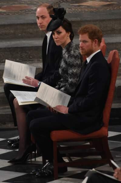 La famille royale était à l'abbaye de Westminster pour rendre hommage aux victimes des attentats de Londres