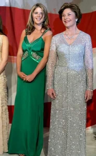 2005 : Laura Bush en Oscar de la Renta