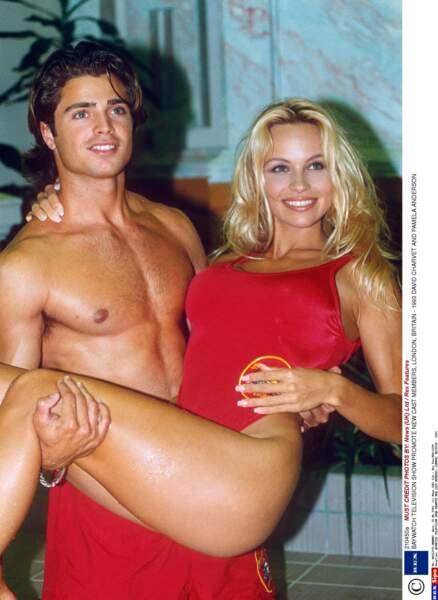 David Charvet et Pamela Anderson en Matt brody et CJ Parker