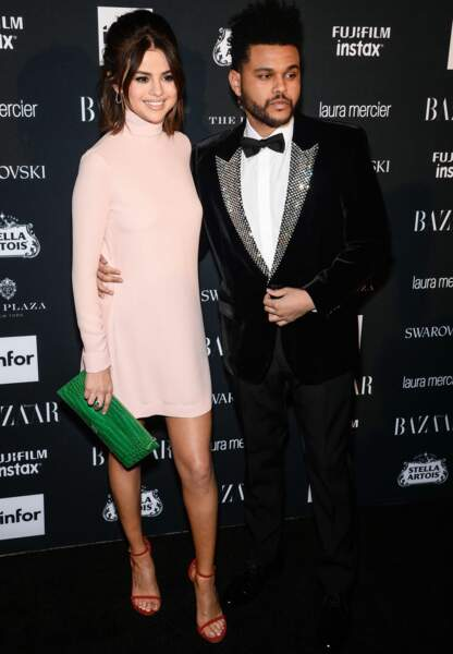 Selena Gomez et The Weeknd à la soirée Harper's Bazaar organisée dans le cadre de la Fashion Week de New York.