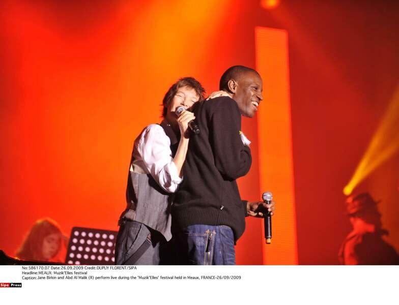 Sur scène avec Abd Al Malik au festival Muzik'Elles de Meaux, en 2009