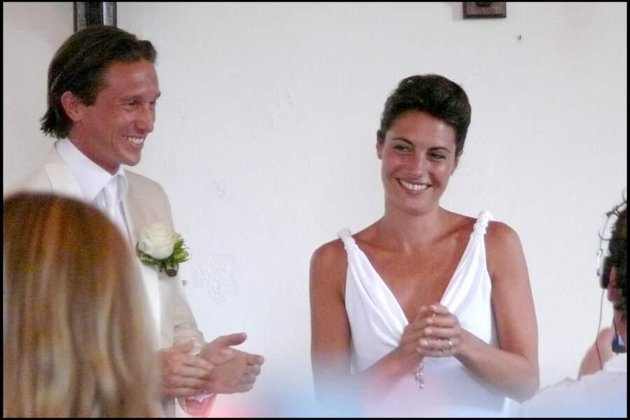 Alessandra Sublet radieuse aux côtés de son premier mari, Thomas Volpi