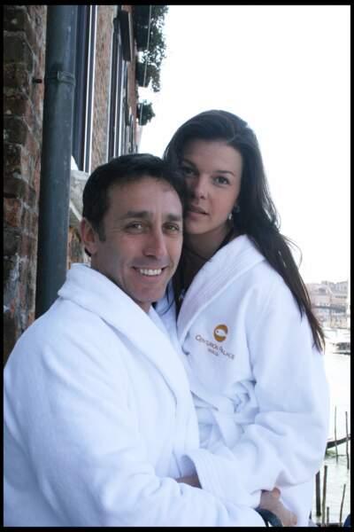 Daniel Ducruet et Kelly Marie Lancien prennent la pose à Venise, en 2010