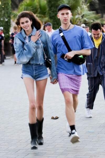 La fille de Cindy Crawford et son boyfriend Wellington Grant au festival Coachella