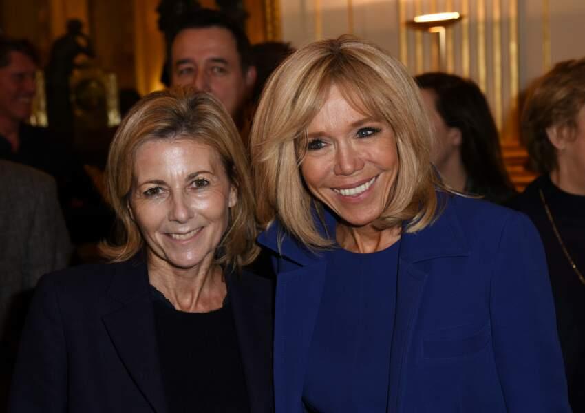 Brigitte Macron et Claire Chazal le 6 février au ministère de la Culture à Paris