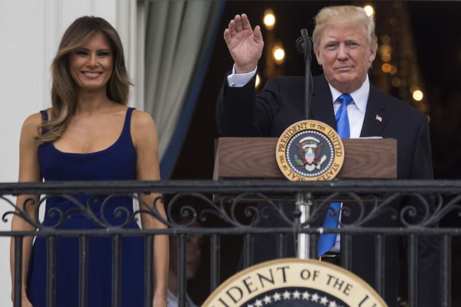 Melania Trump semble de plus en plus à l'aise dans son rôle de First Lady