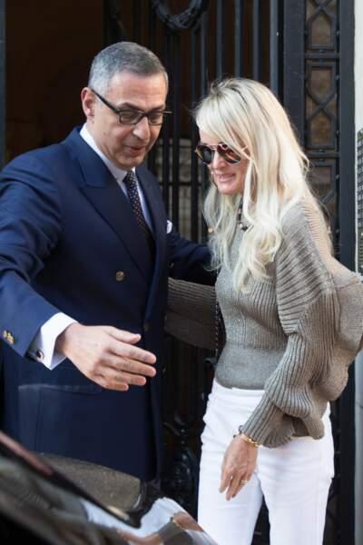 Lors de son passage à Paris, Laeticia est également allée rendre visite à son avocat le 9 octobre.