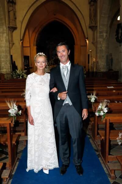 Hélène de Yougoslavie et Stanislas Fougeron lors de leur mariage à Janville, le 15 septembre 2018