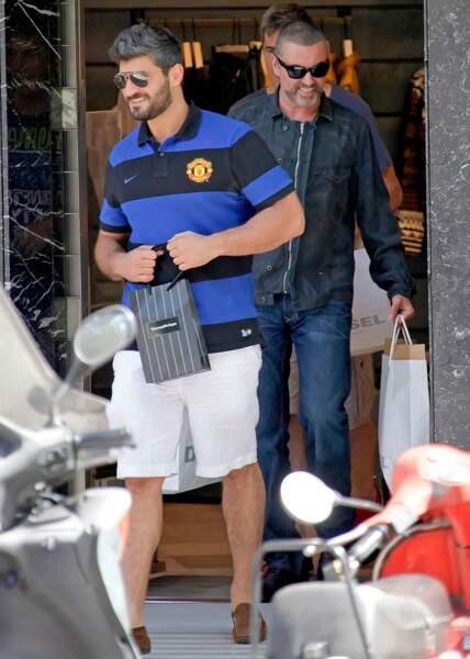 Août 2012: George et Fadi, à Barcelone, peu avant que George chante à la cérémonie de clôture des JO de Londres.