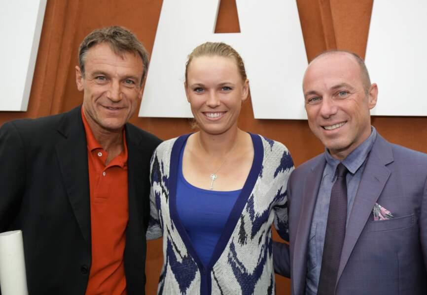 Mats Wilander, Caroline Wozniacki et Giuseppe Lavazza