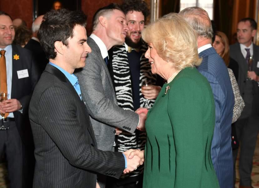 Camilla Parker-Bowles lors de la réception en l'honneur de son époux, le prince Charles