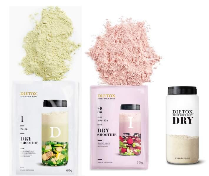 Cure de smoothies deshydratés Dietox