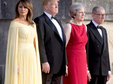 PHOTOS  - Melania Trump subjugue les photographes dans une robe jaune de gala