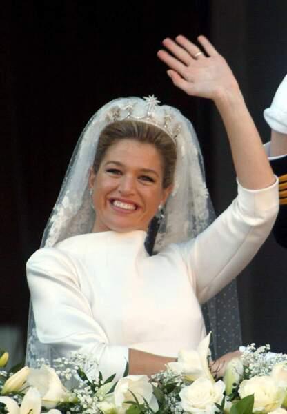 La reine Maxima des Pays-Bas lors de son mariage