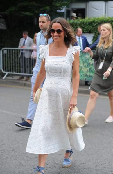 Pippa Middleton enceinte ou pas, adore les espadrilles
