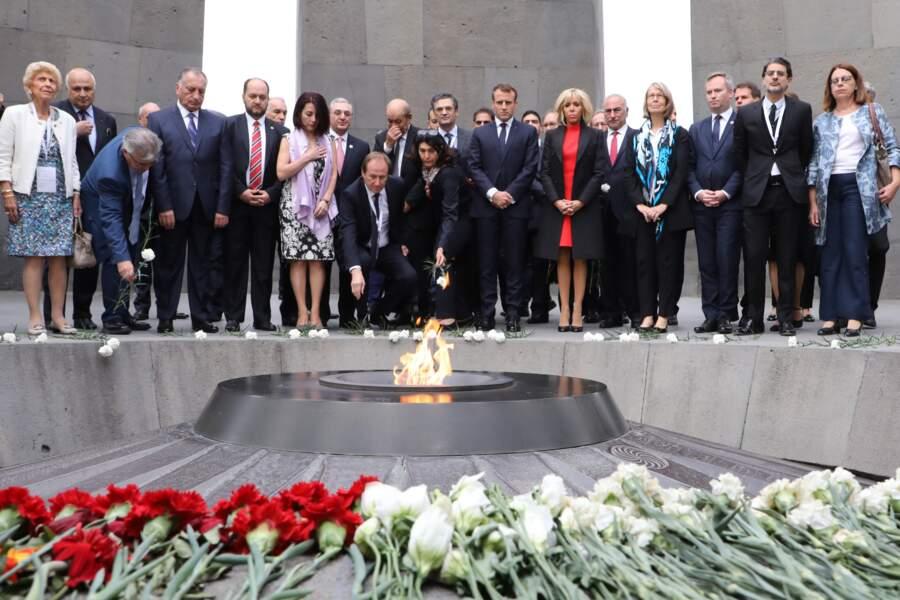 Les époux Macron à Yerevan, en Arménie, le 11 octobre 2018