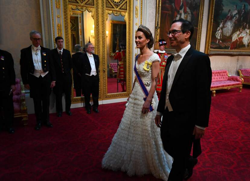 Kate Middleton a envoyé du lourd lors du dîner royal en l'honneur du couple Trump, à Londres, le 3 juin 2019.