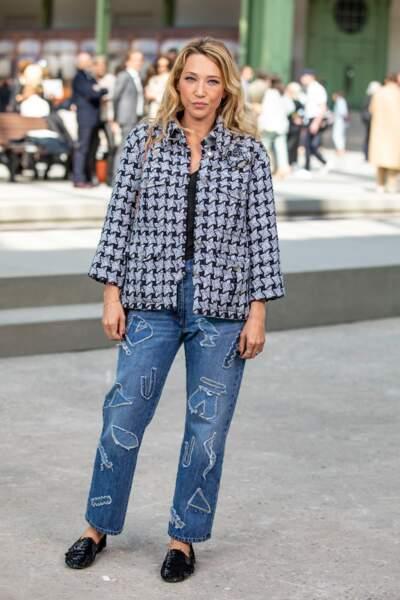 Laura Smet en veste et jean