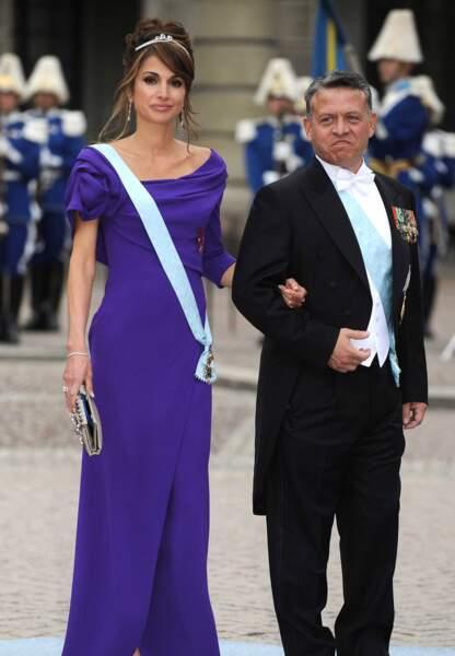 Le roi Abdullah et son épouse Rania