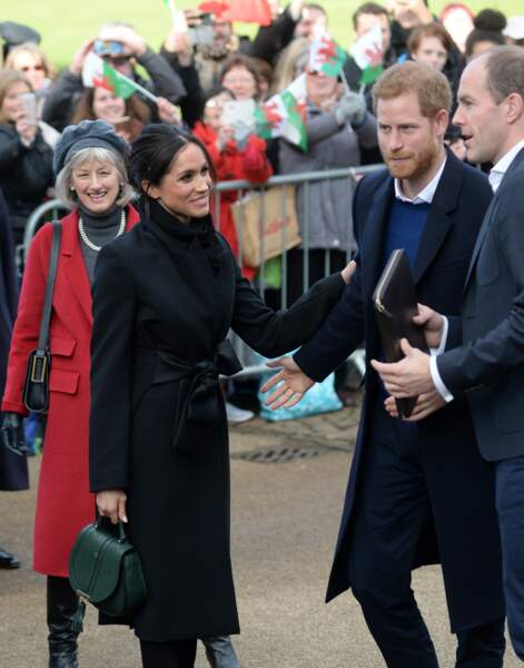 Le prince Harry et sa fiancée Meghan Markle visitent le château de Cardiff le 18 janvier 2018