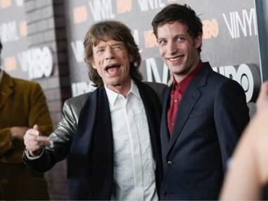 Mick Jagger et son fils à la première de la série Vinyl