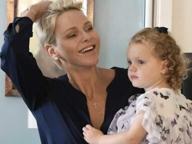 Charlène de Monaco avec ses enfants Jacques et Gabriella
