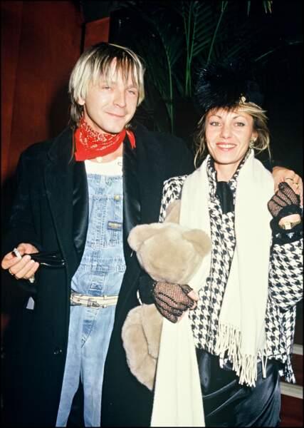Avec son épouse Dominique (mère de sa fille Lolita) au Zénith en 1985
