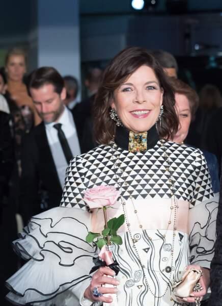 Caroline de Monaco, lors du Bal de la Rose à Monaco, en 2017