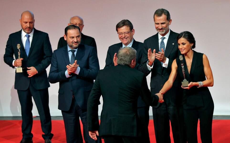 Le roi Felipe VI et la reine Letizia d'Espagne à Valence