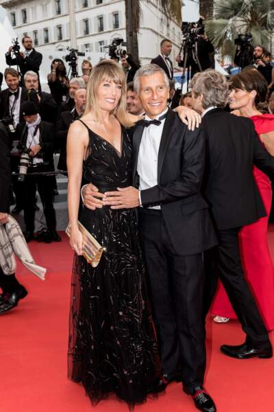 Nagui et Mélanie Page très amoureux lors du 72e festival de Cannes, le 17 mai 2019.