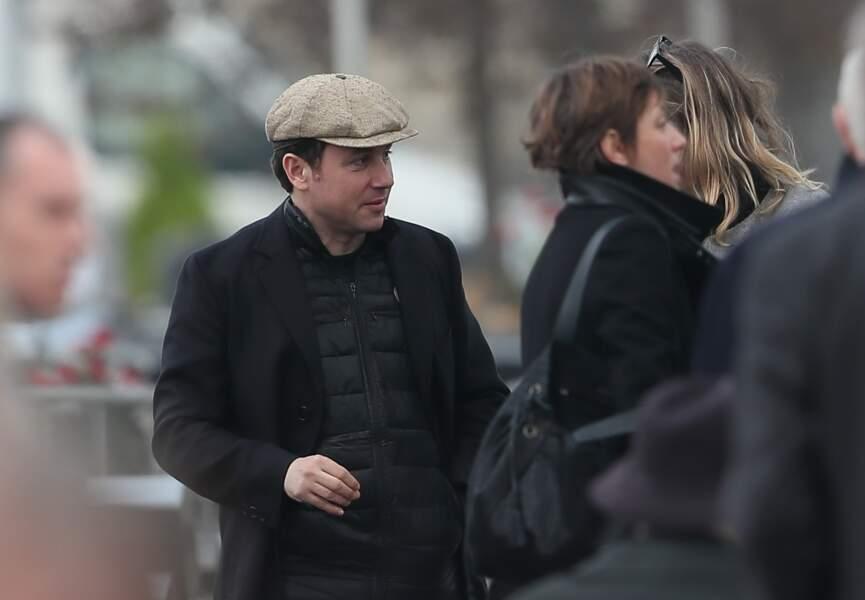 Romain Colucci lors des obsèques de sa mère Véronique Colucci