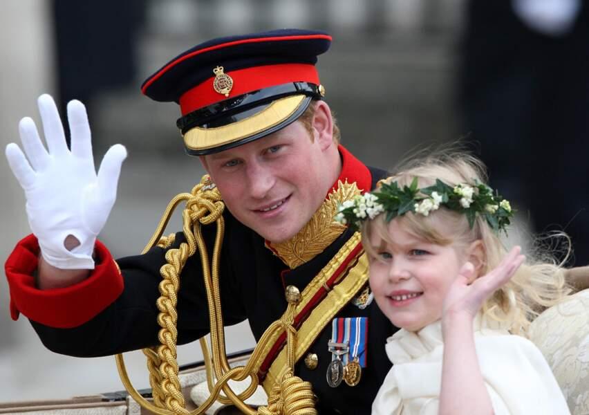 Le Prince Harry et Lady Louise Windsor au mariage de Kate et William le 29 avril 2011