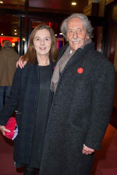 Jean Rochefort et sa deuxième épouse Françoise Vidal en 2015