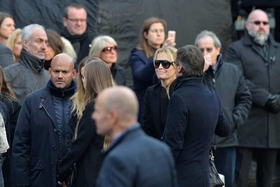 L'émotion d'Estelle lors de la cérémonie hommage à Johnny