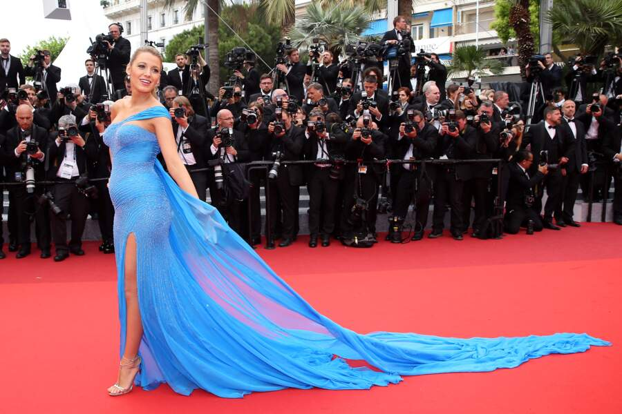 Blake Lively à Cannes en 2016 et enceinte de sa seconde fille