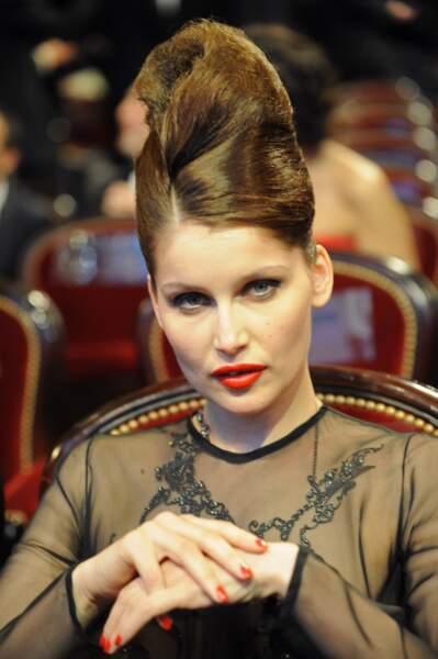 Laetitia Casta à la 35 ème cérémonie des César au théâtre du Chatelet en 2010