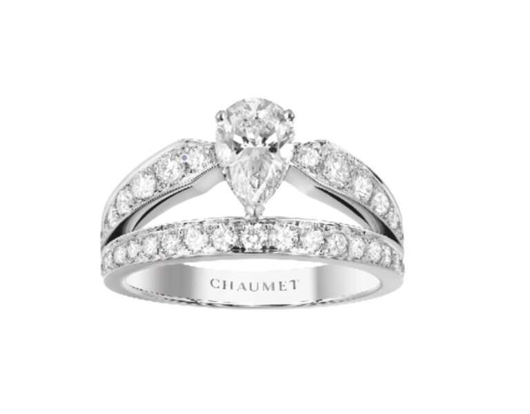 Bague en or blanc et diamants, prix sur demande (Chaumet)