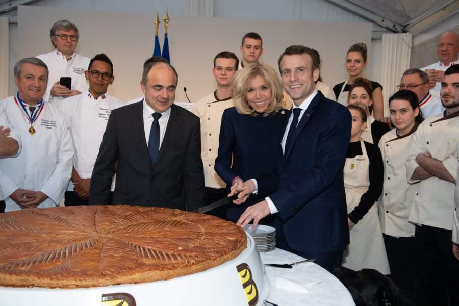 Ce rendez-vous gourmand traditionnel a redonné le sourire au couple présidentiel