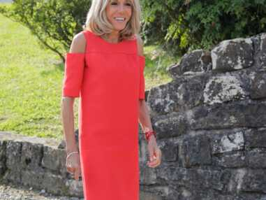 PHOTOS - Brigitte Macron flamboyante : cette robe d'été symbolique