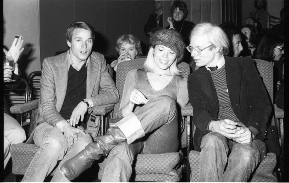 Avec Andy Warhol, troublé par son ambiguité, à New-York, en 1975.