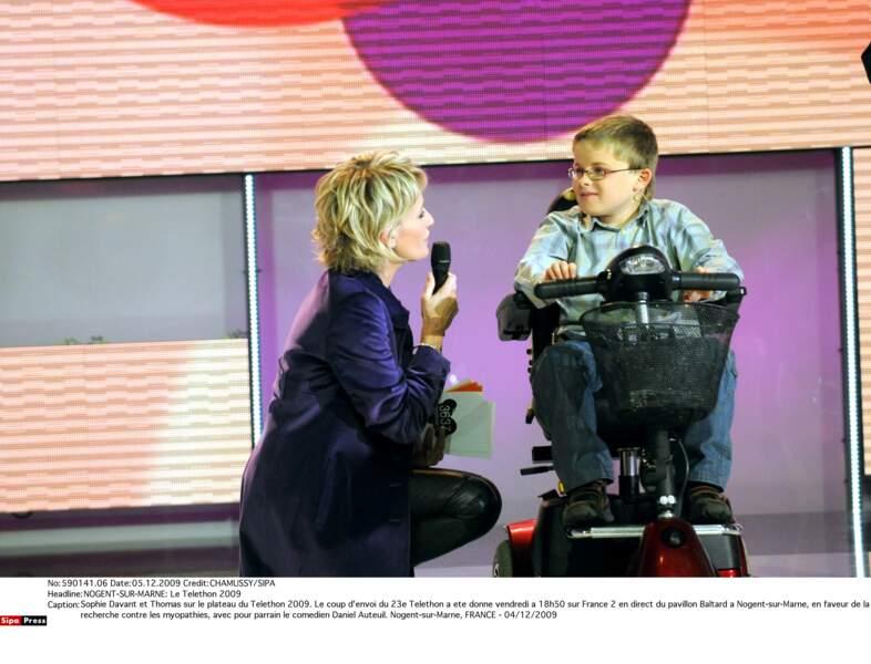 Avec le petit Thomas, en 2009
