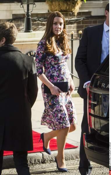 Kate Middleton à la sortie de l'hôtel The Goring à Londres, le 2 mars 2015