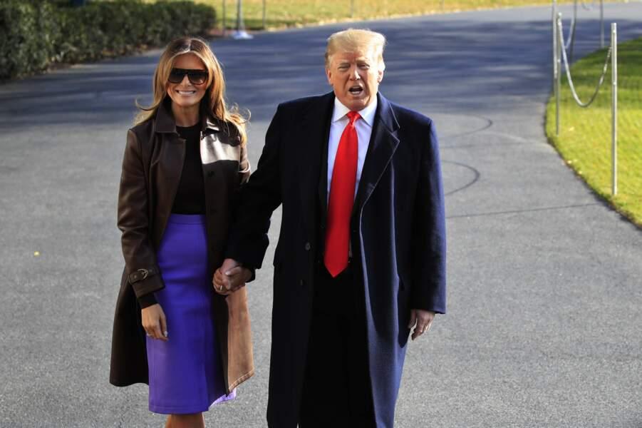 Melania Trump plus souriante que jamais avec son mari