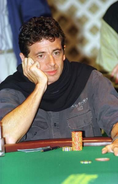 Patrick Bruel, lors du championnat du monde de Poker, à Las Vegas en 1998